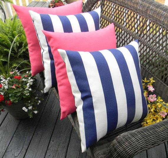 Set Of 4 17 Indoor Outdoor Decorative Throw Pillows