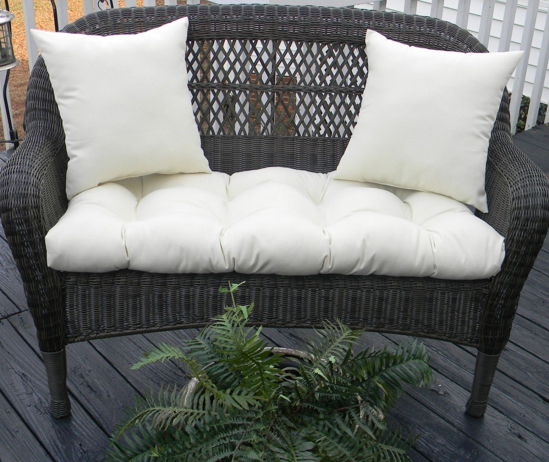 Indoor / Outdoor Cushion For Wicker Loveseat Bench Settee 3 PC