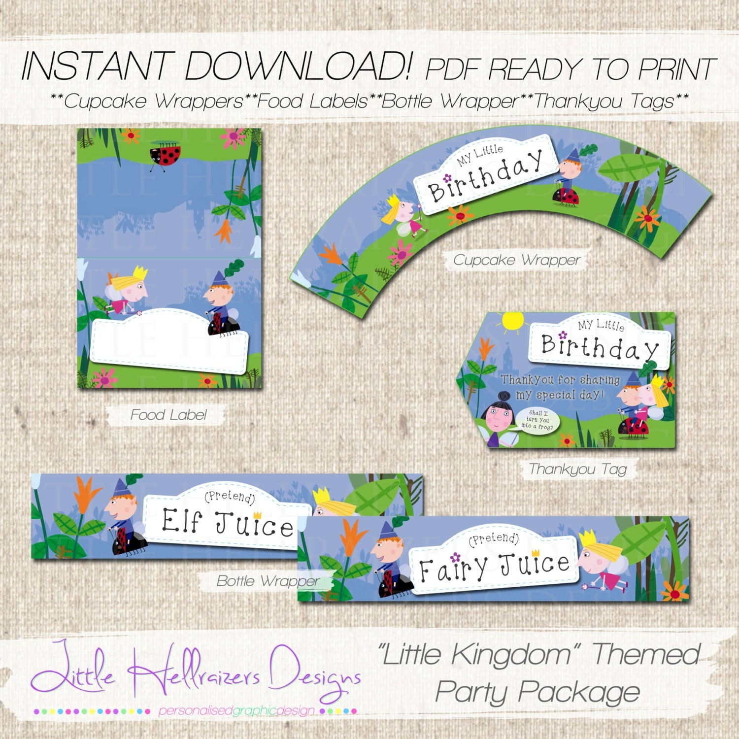 INSTANT DOWNLOAD Little Kingdom Themed Party