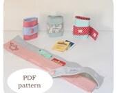 PDF pattern: tea bag case- Pattern tea bag case - Fabric tea bag case pattern