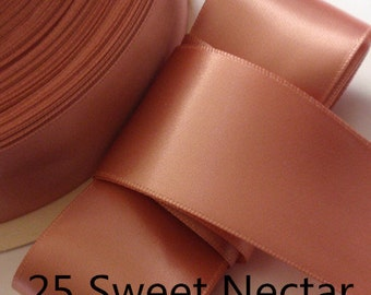5 yards 2 inches Single Face Satin Ribbon in Sweet Nectar  DM 20-25