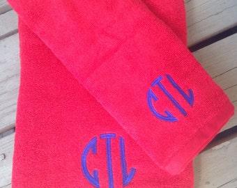Embroidered Towel Set