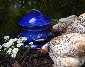 Ceramic Chicken Feeder (size  Large)