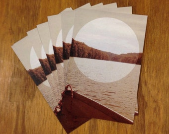 Rowboat Postcard - set of 5