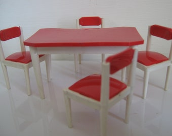 1950's Brimtoy plastic table and chairs