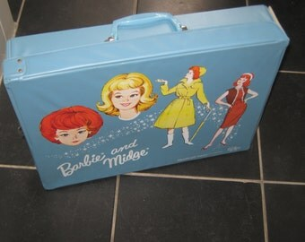 Vintage Barbie & Midge Double Carry Case Wardrobe