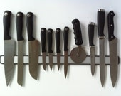"20"" Knife Butler for Fridge - The ALL RUBBER 2 Sided Magnetic Knife Rack"
