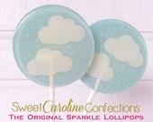 Cloud Baby Shower Lollipops, Baby Shower Favors, Clouds, Light Blue Lollipops, Candy Lollipops, Candy, Party Favors-Set of Six