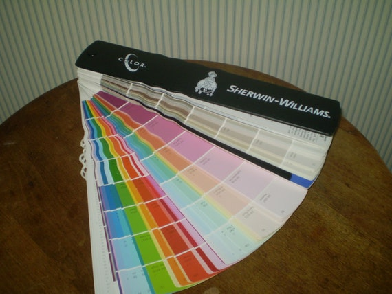 set of sherwin williams paint samples for your scrapbooking or. Black Bedroom Furniture Sets. Home Design Ideas