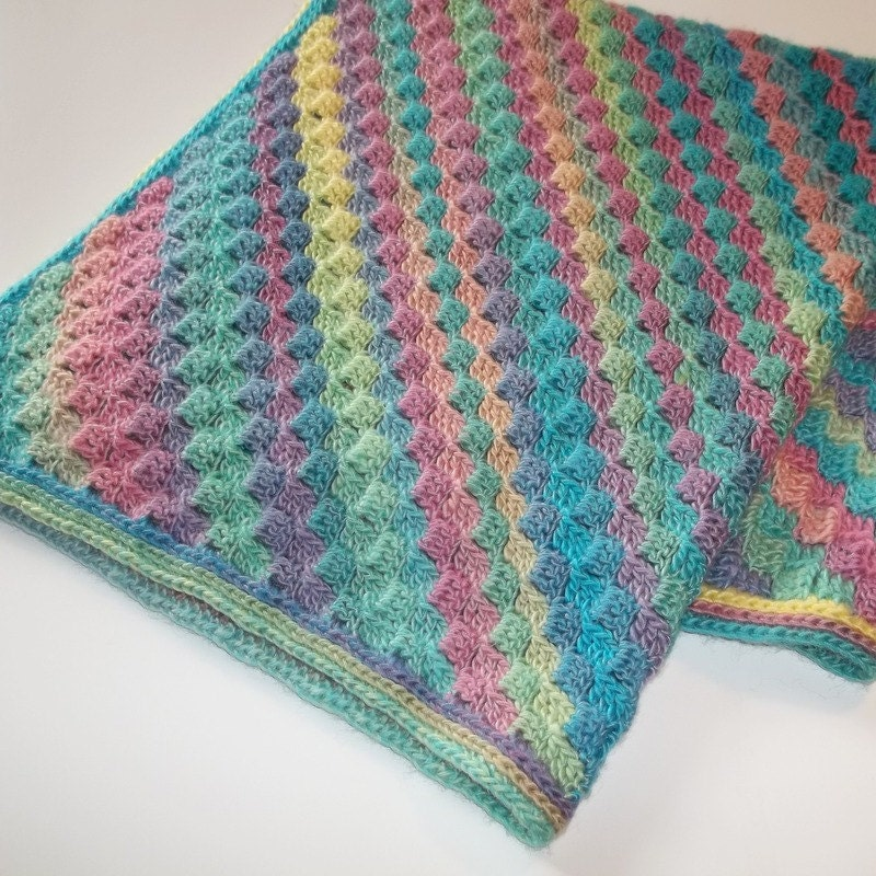 Baby Blanket Pastel Rainbow Blanket Stroller By
