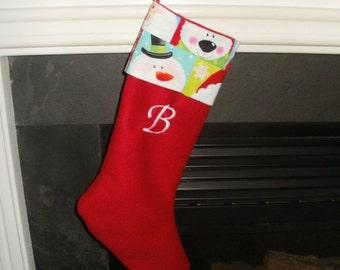 Fleece Christmas Stocking - Initial Personalization