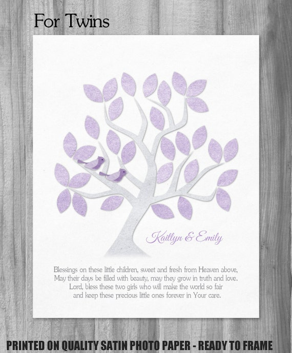 Twin Baby Girl Quotes: Twins Dedication Gift Twin Baby Girls Canvas Print Baptism
