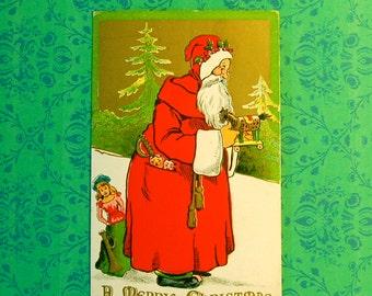 Sale RARE Vintage Christmas Santa Claus Post Card