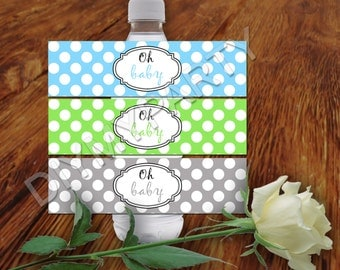 Printable Water Bottle Label water bottle printable labels DIY PRINTABLE Birthday Party decor printable labels digital labels birthday decor