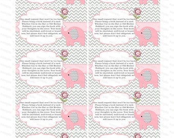 Bring a book insert girl baby shower invitation bring a book instead of card elephant baby shower invitation insert boy baby shower (50lppt)
