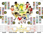 A3 size - WORLD CUP 2014 Group Match Wall Chart Poster (for score marking, framing & decoration)