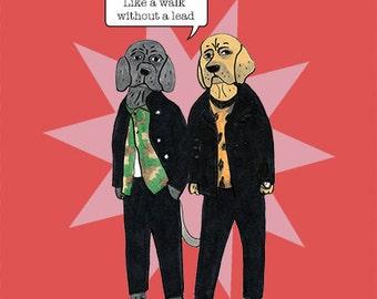 Funny, quirky Mastiff Attack card