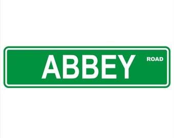 "Abbey Road Street Sign 6"" x 24"" Aluminum - Beatles, Rock"