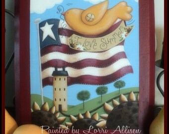 I Love Summer painting pattern packet by Terrye French and Lorri Allisen instant download