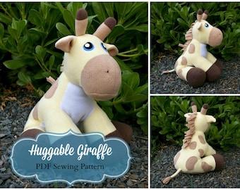Huggable Giraffe Pattern - PDF Instant Download