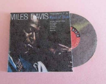 Record Album Miles Davis Kind of Blue - dollhouse miniature 1:12 scale