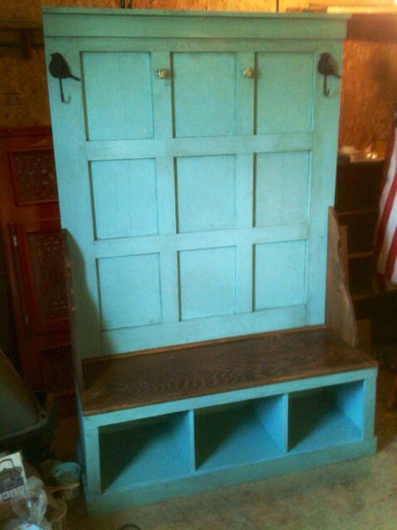 Rustic Entry Hall Tree Bench For Entryway Or Mud By