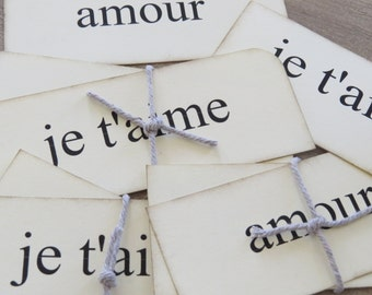 Vintage Look French Flashcards