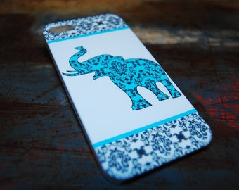 Tribal Elephant Iphone 6 (4.7) 4.7 5 5s 4s 4 Back Cover Indian Tribal Print Case Blue Aztec Stripe Cases Hard Plastic Cover c116