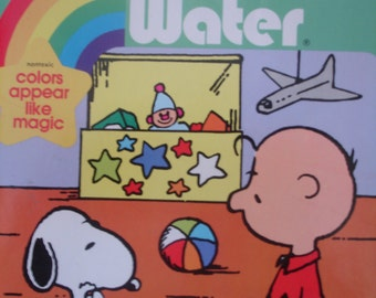 Vintage 1987 Snoopy and Charlie Brown Golden Book Paint by Number - MINT