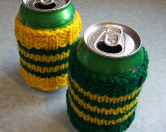 Knit Koozie Pattern : KNIT BEER KOOZIE PATTERN Free Knitting and Crochet Patterns