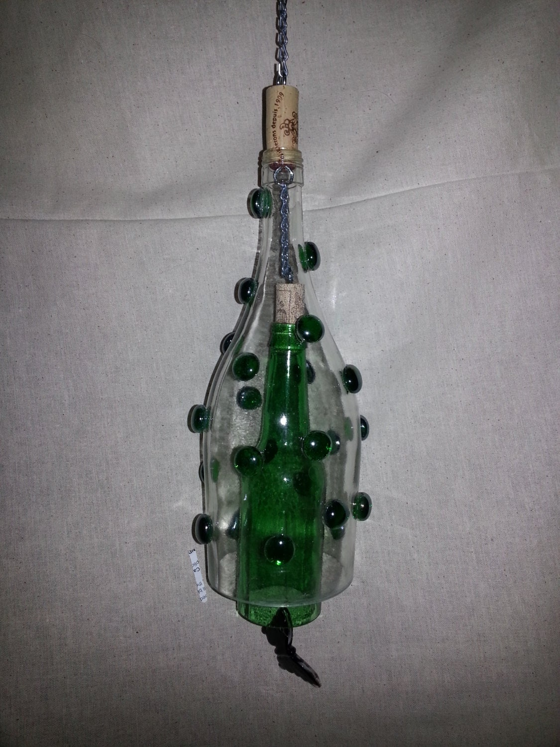 Chandeliers pendant lights for Glass bottle wind chimes