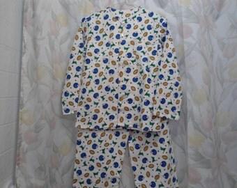 Size 7 Boys Pajamas with Blue Helmets, footballs