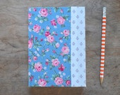 SALE One-of-a-kind Hand Bound Floral Datebook