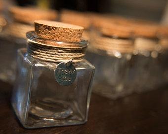 Thank You Sand Jar Wedding Favor