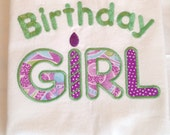 BIRTHDAY GIRL Shirt, Kids Party, Personalized, Embroidered Applique Monogrammed. Baby, Toddler, Tee, Bodysuit, T-Shirt, BOYS Style Available