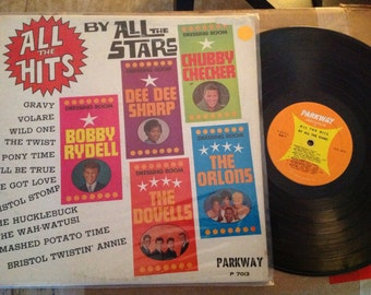 All the Hits LP by All the Stars - Vintage Parkway Records 1960s