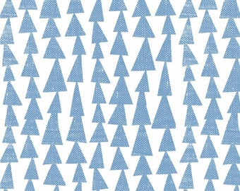Lotta Jansdotter - Pilvi Trees in Sky Blue - Quilting Cotton - Mormor Collection - 1/4 Yard