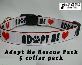 Adopt Me Rescue Dog Collars 5 Pack