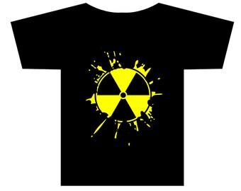 Radioactive sign logo Splat T-shirt