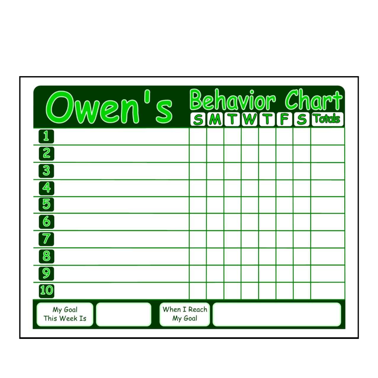 Monthly Behavior Charts For Teachers Kids chore charts or behavior