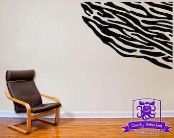 Zebra Print Wall Decals Etsy - Zebra print wall decals