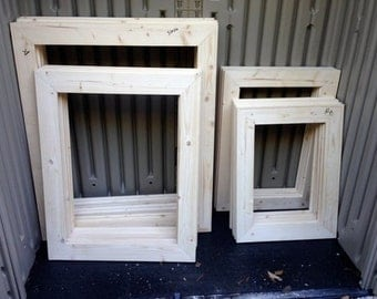 These Are Unfinished Wood Frames For Your Diy Craft