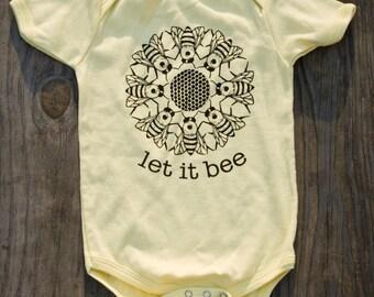 Baby- Let it Bee- Onesie- Soft Yellow