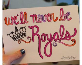 Royals Lyric Art