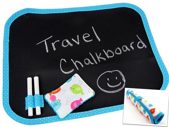 Travel Chalkboard - Roll Up Chalkboard - Kids Chalkboard - Child's Chalkboard - Portable Chalkboard