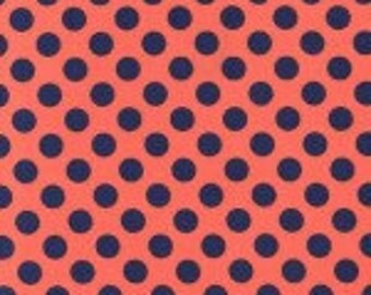 Half Yard - Ta Dot in Poppy by Michael Miller - 1/2 yard