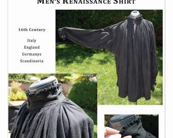 Pattern for 16th Century Men's Renaissance Shirt or Hemd