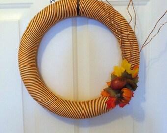 Thanksgiving/Fall yarn wreath