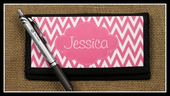 Check Book Cover Checkbook Wallet Case Office Money Credit Card Holder Monogrammed Personalized Gift