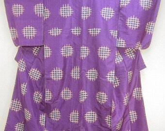 Vintage  Japanese Kimono Silk with lavish silk embroidery  excellent condition